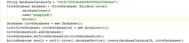 Create Database -Openstack- Trove
