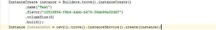Create Database Instance