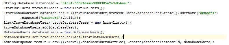 Database User - Openstack-Trove